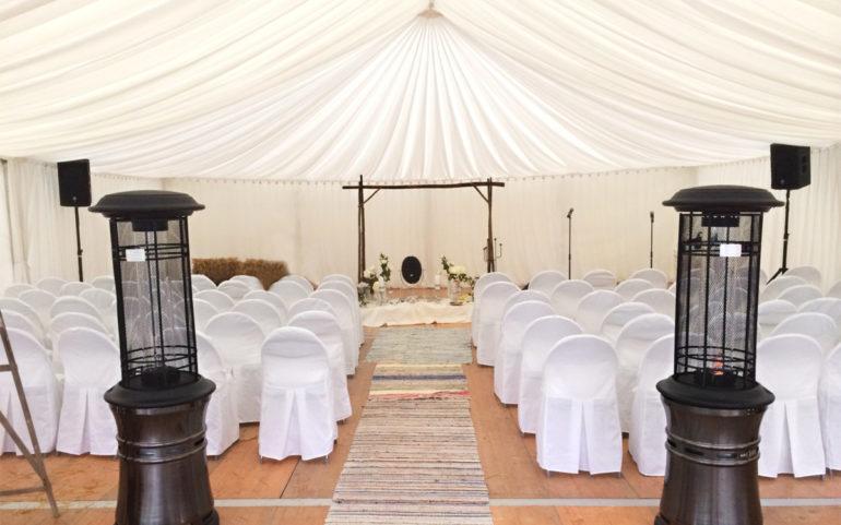 Tyger, tält och möbler till bröllop - Eventkraft