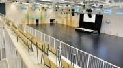 Scen till invigning av Campus Arena