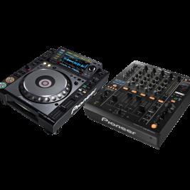 DJ-PAKET PIONEER (pro) – 2 x CDJ2000 + mixer