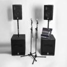 Hyr PA högtalare ljudsystem för dans och fest