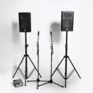 Högtalarsystem PA ett ljudpaket för tal och bakgrundsmusik