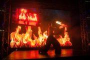 Eldshow på event lan gaming party