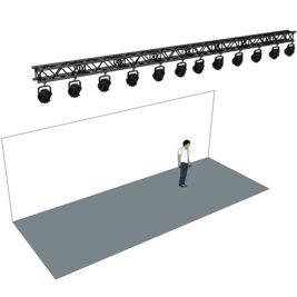 Belysningsramp 8m med 12 lampor