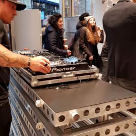 DJ-bänk/Bardisk 250  x 50 cm – beMatrix